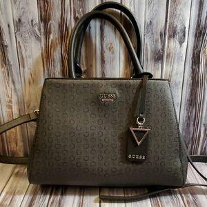 Guess grey handbag with adjustable shoulder strap